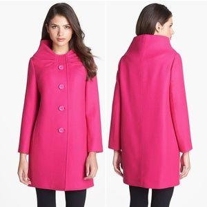 Kate Spade Pink Etta Wool Coat
